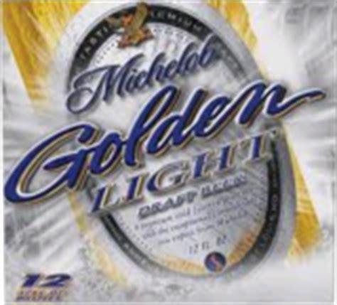 michelob golden light abv michelob golden light