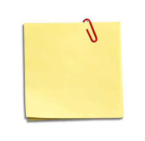 yellow post it notes clipart the cliparts