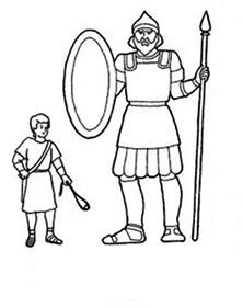 david and goliath coloring page the height differencies between david and goliath coloring