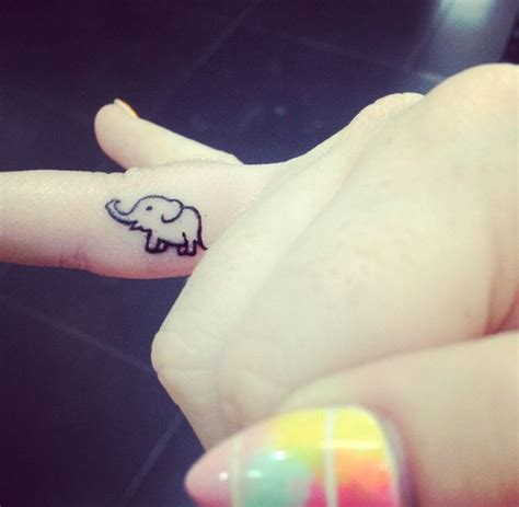 small thai tattoos tiny idea elephant thailand tiny small