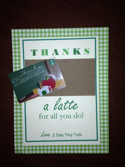 Wendy S E Gift Card - thank you with gift card slot teacher appreciation pinterest