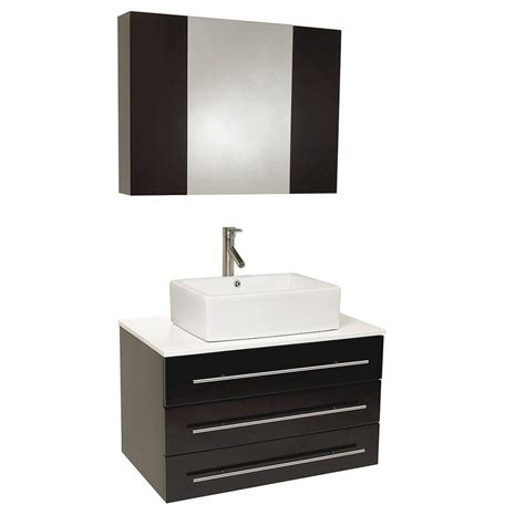 fresca modell0 32 in vanity in espresso with marble