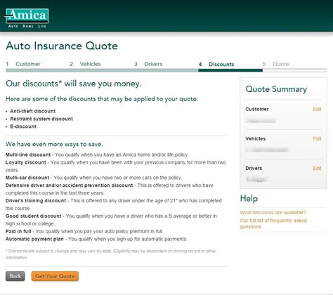 Amica Car Insurance Quote Brilliant Auto Insurance