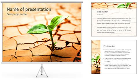 powerpoint themes soil crack in soil powerpoint template backgrounds id