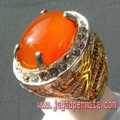 Cincin Orange Chalcedony orange chalcedony batu akik