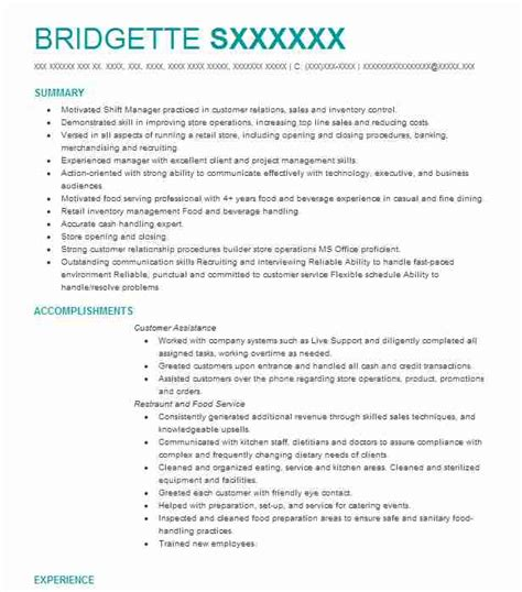 Resume For A Server by Server Resume Exles Resume And Cover Letter Resume
