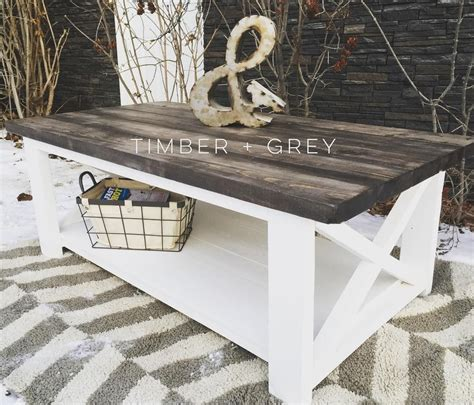 farmhouse x coffee table rustic coffee table white diy coffee table