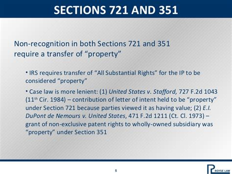 section 351 transaction tax issues in technology transactions