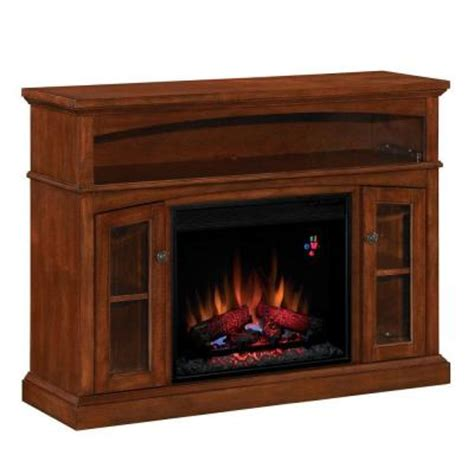 48 in media console electric fireplace in mahogany