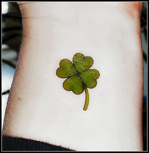 temporary tattoo paper ireland 4 leaf clover st patrick s day temporary tattoo green
