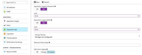 logging console c logging to azure diagnostics from console web app