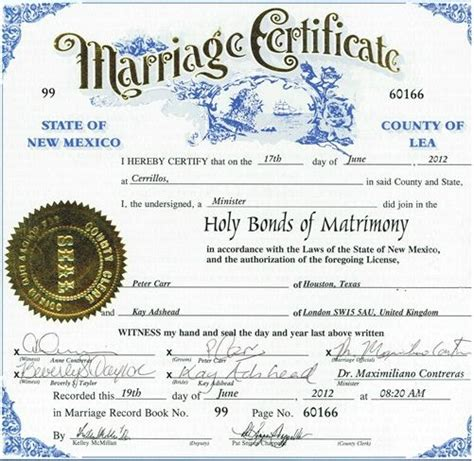 Free Marriage Records New Mexico New Mexico Marriage Certificate
