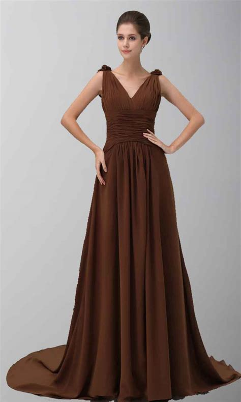 Brown Dress brown prom dresses orange bridesmaid dresses