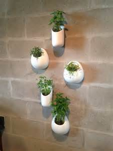ceramic wall planters set five white wall pocket set by