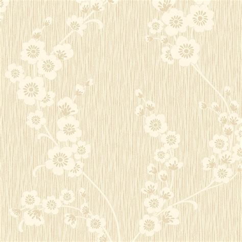 henderson interiors chelsea glitter floral wallpaper cream