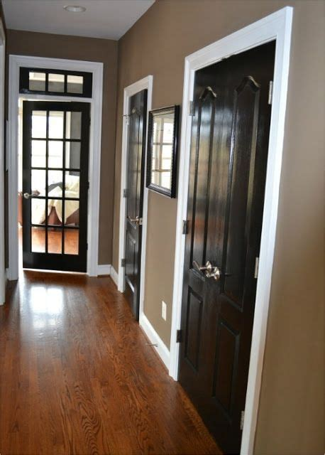 Black Interior Doors With White Trim Pin By Woodruff On Home Decor