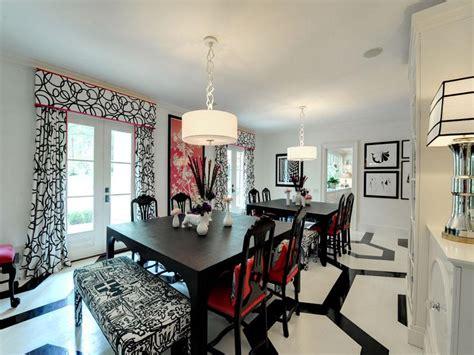 elegant black  white dining room designs