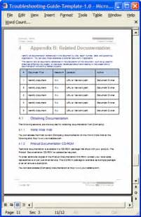 Appendix Template by Troubleshooting Guide Template Ms Word 12 Pages Free