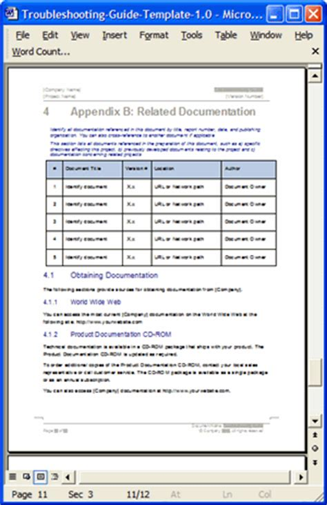 troubleshooting document template troubleshooting guide template ms word 12 pages free