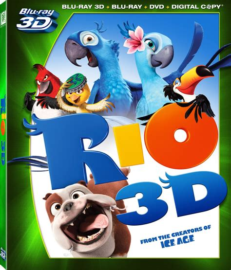 film blu ray 3d rio dvd release date august 2 2011