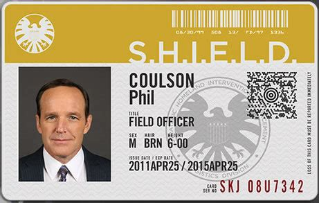 007 Id Card Template by Eerste Kijk Op Marvel S Agents Of S H I E L D