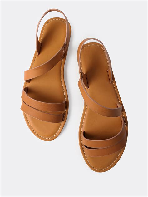 sandals at the open toe wrap sandals shein sheinside
