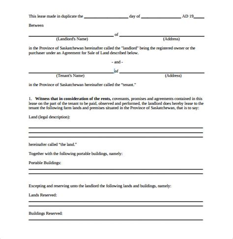 6 Sle Pasture Lease Agreements Sle Templates Grazing Lease Agreement Template
