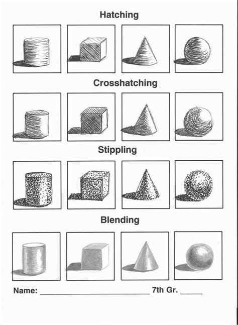 3 Drawing Techniques by Hatching Crosshatching Stippling Blending Drawing Tips