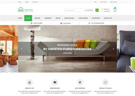 20 Retail Website Themes Templates Free Premium Templates Furniture Website Templates Free