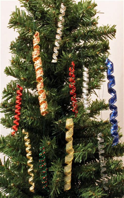 gold icicles for christmas tree funezcrafts easy crafts wired ribbon icicle ornament