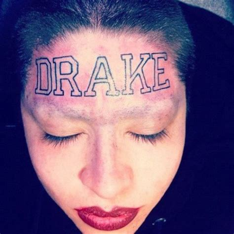 drake tattoos tattoos s name on forehead business insider