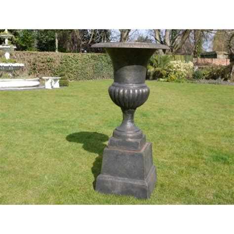 black urn planters black planter urn with base swanky interiors