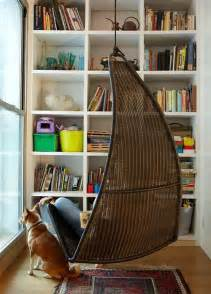 Hanging Reading Chair by Reading Nook Bookshelves Hanging Chairs