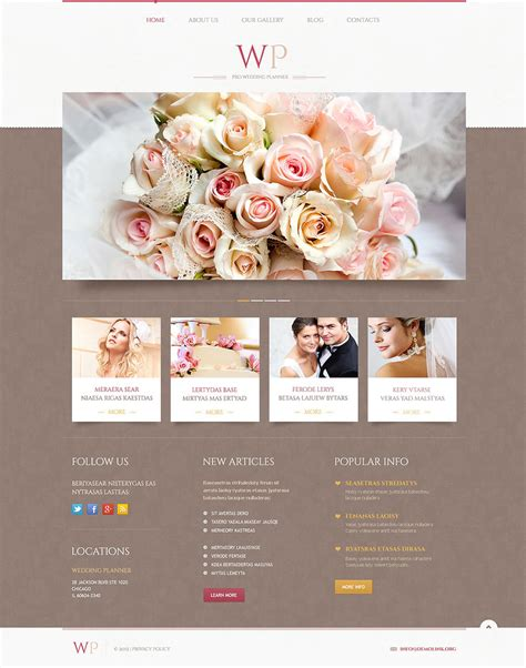 wedding planner website template 19 best wedding event planner website templates free
