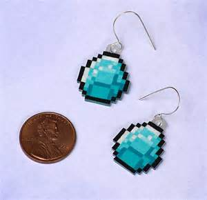 minecraft earrings by robinsdesign on etsy