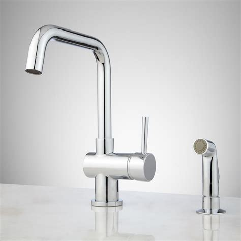 one kitchen faucet with sprayer one kitchen faucets with sprayer