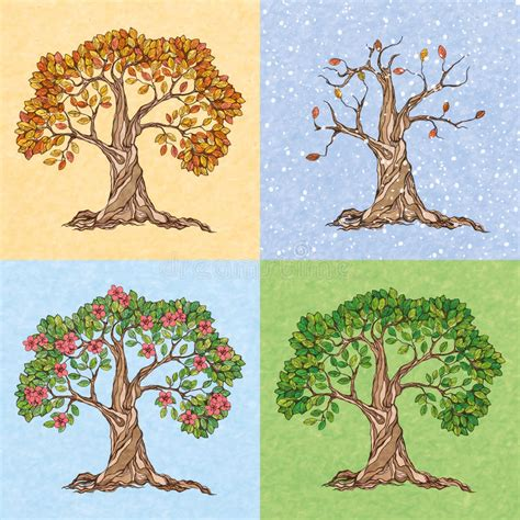autumn season fall tree stock illustration i2767767 at featurepics four seasons tree stock vector illustration of 39869764