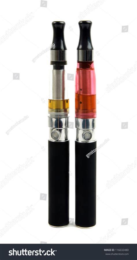 bid electronics big electronic cigarettes isolated on white stock photo