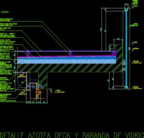 Stuck In Layout View Autocad | detail terrace deck and rail dwg detail for autocad