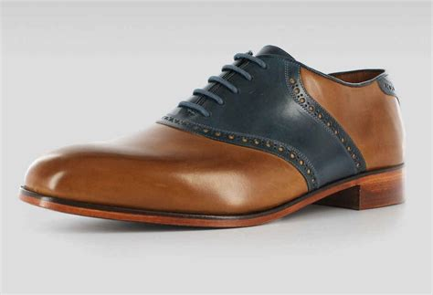 Leather Shoes Handmade - handmade two tone mens formal leather shoes genuine