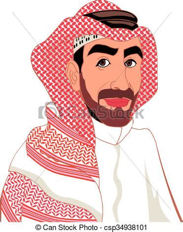 Small Traditional House Plans vector clipart of arab arab muslim in keffiyeh and