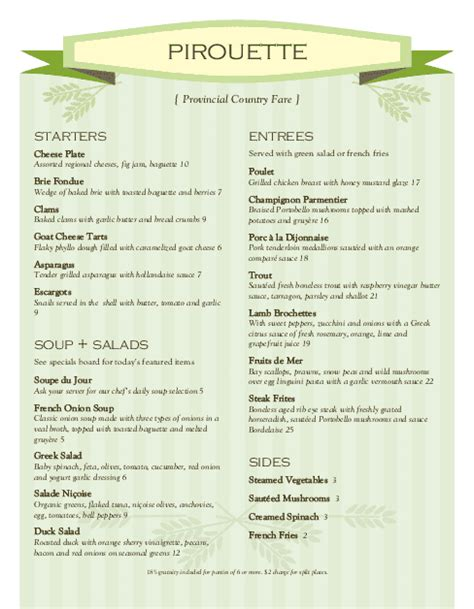 menu layout in french bakery menu template toreto co