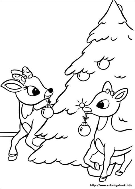 coloring pages of christmas reindeer rudolph the red nosed reindeer coloring pages on coloring