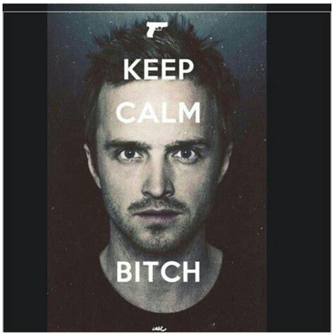 Jesse Pinkman Memes - quot keep calm bitch quot jesse pinkman aaron paul