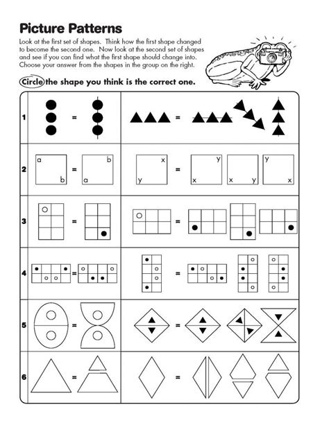 pattern reasoning test math analogies worksheet pattern classroom pinterest
