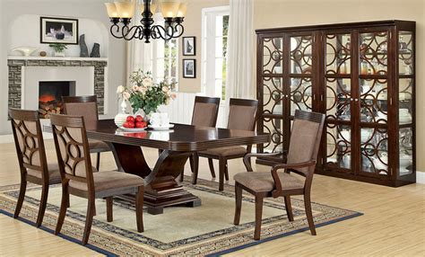 contemporary formal dining table set