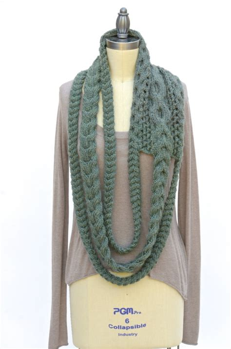 how to join an infinity scarf plait infinity scarf by pam powers knits project