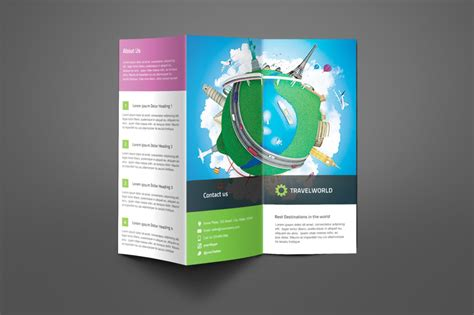 15 tourism brochure template word psd indesign and