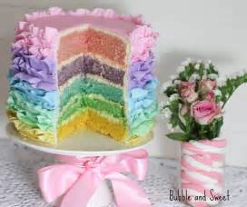 Make It Sweet And Sweet Pastel Rainbow Ruffle Cake For Easter
