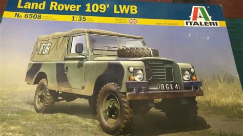 land rover italeri italeri 1 35 land rover 109 lwb build update 1 youtube